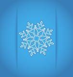Template frame with christmas snowflake Stock Photo