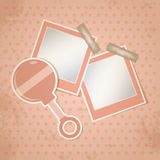 Template frame design for baby photo Royalty Free Stock Images