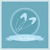 Template frame design for boy baby arrival Stock Images