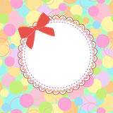 Template frame design for  card. Template frame design for greeting card Royalty Free Stock Image