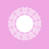 Template frame  design for card. Vintage Lace Doily Stock Images