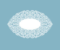 Template frame  design for card. Vintage Lace Doily Stock Photos