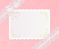 Template  frame design for card. Template  frame design for greeting  card Stock Image