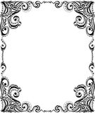 Template frame design for card. Floral pattern. Stock Photography