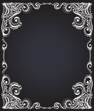 Template frame design for card. Floral pattern. Stock Image
