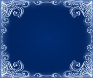 Template frame design for card. Floral pattern. Royalty Free Stock Photos