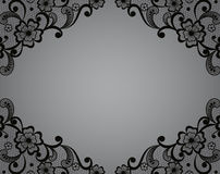 Template frame  design for card. Vintage Lace Doily Stock Photo