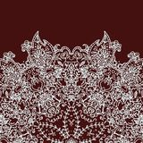 Vintage invitation card with lace ornament royalty free stock photo