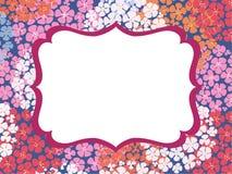 Template frame design for card vector illustration