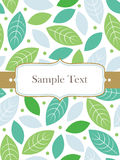 Template frame design for greeting card Royalty Free Stock Photography