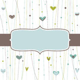 Template frame design for greeting card Stock Image