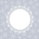 Template frame design for greeting card. Template frame design for christmas greeting card Royalty Free Stock Images