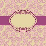 Template frame design for greeting card . Royalty Free Stock Images