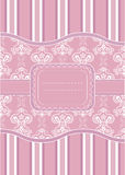 Template frame design for greeting card Royalty Free Stock Photo