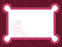 Template frame design for greeting card Royalty Free Stock Image