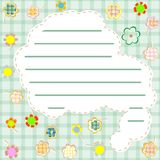 Template frame design for greeting card. vector Stock Photo