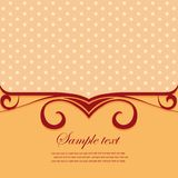 Template frame design for greeting card. Stock Photography