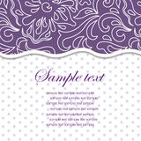 Template frame design for greeting card. Royalty Free Stock Photo