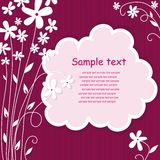 Template frame design for greeting card. Stock Photo