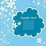 Template frame design for greeting card. Royalty Free Stock Photography