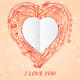 Template frame design for love card Royalty Free Stock Photo