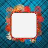 Template frame design for xmas card. EPS 8 Stock Photography