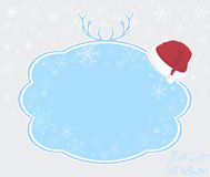 Template frame design for xmas card - Illustration. Template frame design for Christmas & New Year vector illustration