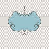 Template frame . Vector illustration Stock Image