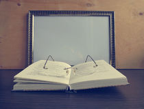 Template frame for writing recipes Royalty Free Stock Photo