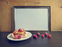 Template frame for writing recipes Stock Photography