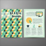Template with geometric cover for flyers or Stock Photos