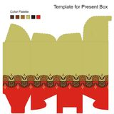 Template for Gift Box Royalty Free Stock Photo