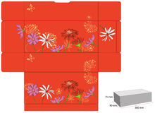 Template for gift box with die cut. Stock Photos