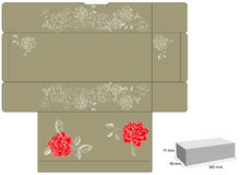 Template for gift box with die cut. Royalty Free Stock Images