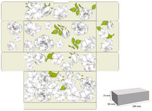 Template for gift box with flowers Stock Image