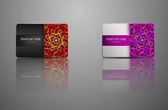 Template Gift card, credit card, business card, an invitation Stock Images