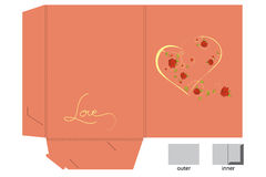 Template for gift folder on pink background Royalty Free Stock Photo