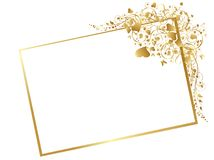 Template with golden decoration Royalty Free Stock Photography