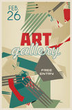 Template of graphic retro poster with abstraction Royalty Free Stock Image