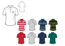 Template of Great Britten Mans Flag Polo shirt design design Stock Photos