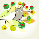 Template for greeting card. With bird Royalty Free Stock Photo