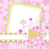 Template greeting card Royalty Free Stock Image