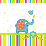 Template greeting card vector illustration