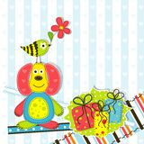 Template greeting card Royalty Free Stock Photo
