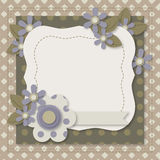 Template of greeting card or album page Royalty Free Stock Photo