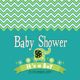 Template greeting card -  baby shower, vector Stock Image