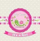 Template greeting card -  baby shower, vector Stock Images