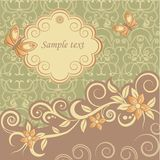 Template greeting card. Template frame design for greeting card, vector Illustration royalty free illustration