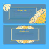 Template for greeting card. Horizontal template for greeting card, invitation with frame and sketch  decorative pattern for design. Place for text.  vector Royalty Free Stock Images