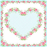 Template greeting card for Mother Day or Valentine Day Royalty Free Stock Images